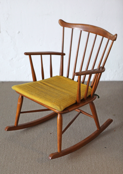 Rocking Chair, Danish Beech, 50s