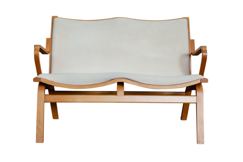 Two seater Bentwood Chair by Finn Ostergaard, Scandinavian, 70s