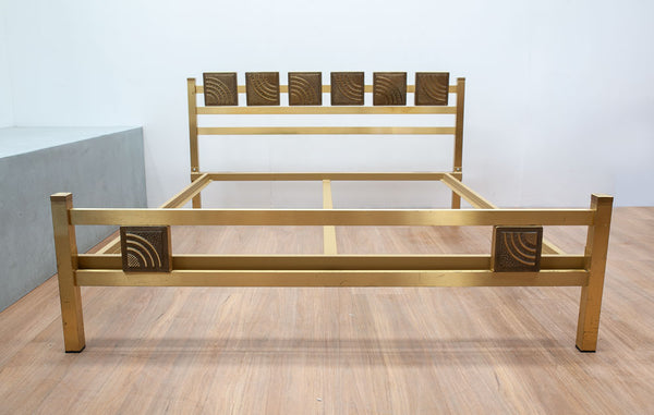 Luciano Frigerio Brass & Bronze Bed, Italy 1970's