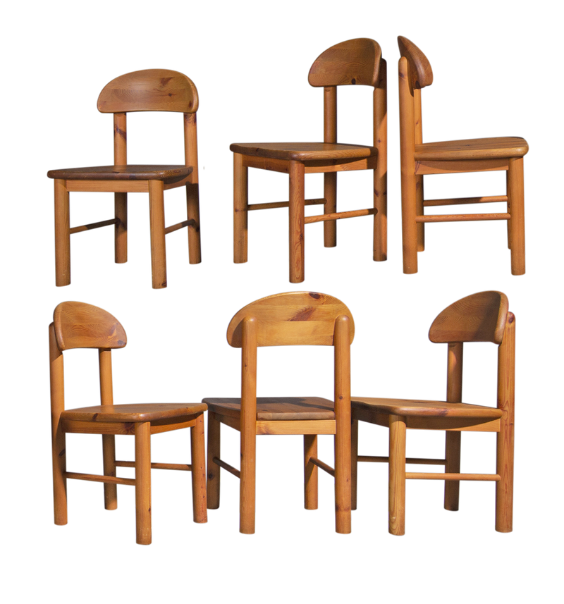 Rainer Daumiller Dining Chairs in Pine, 1970's