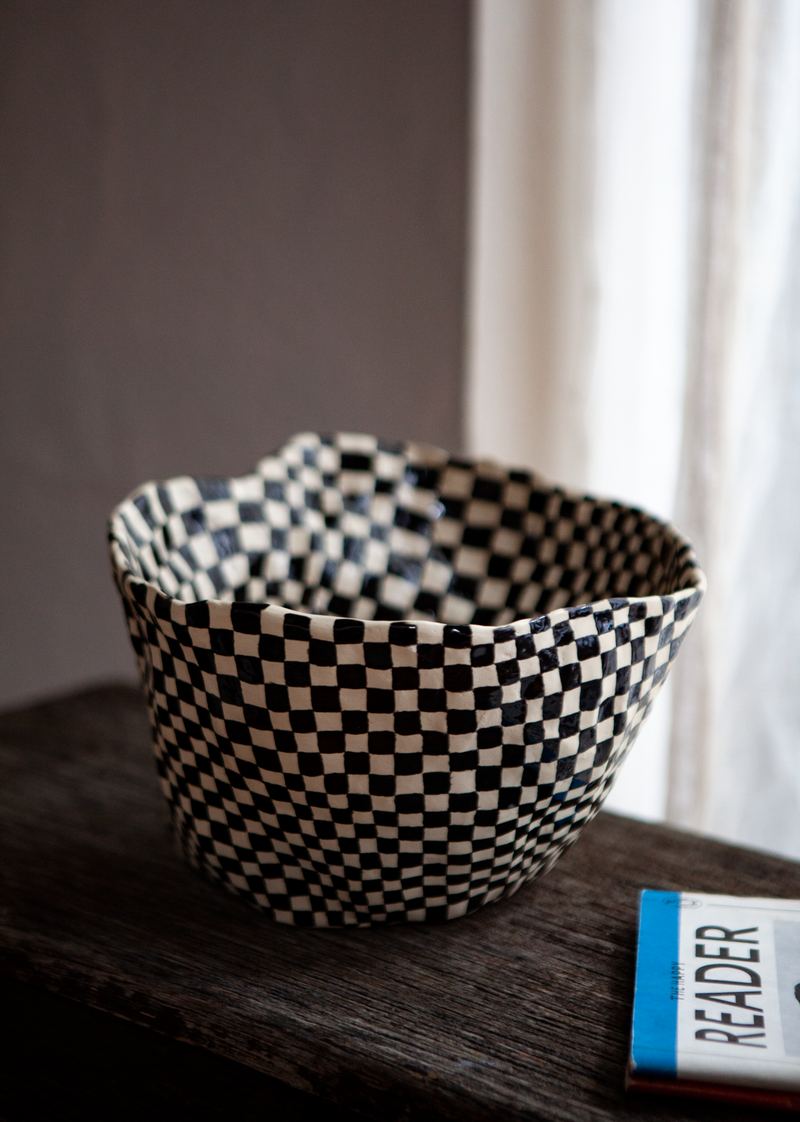 Medium Checkered Vessel by Samantha McIntyre