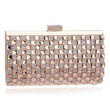 Small+Women+Evening+Bags+Rhinestones+Chain+Shoulder+Messenger+Purse+Bag+One+Side+Acrylic+Silver