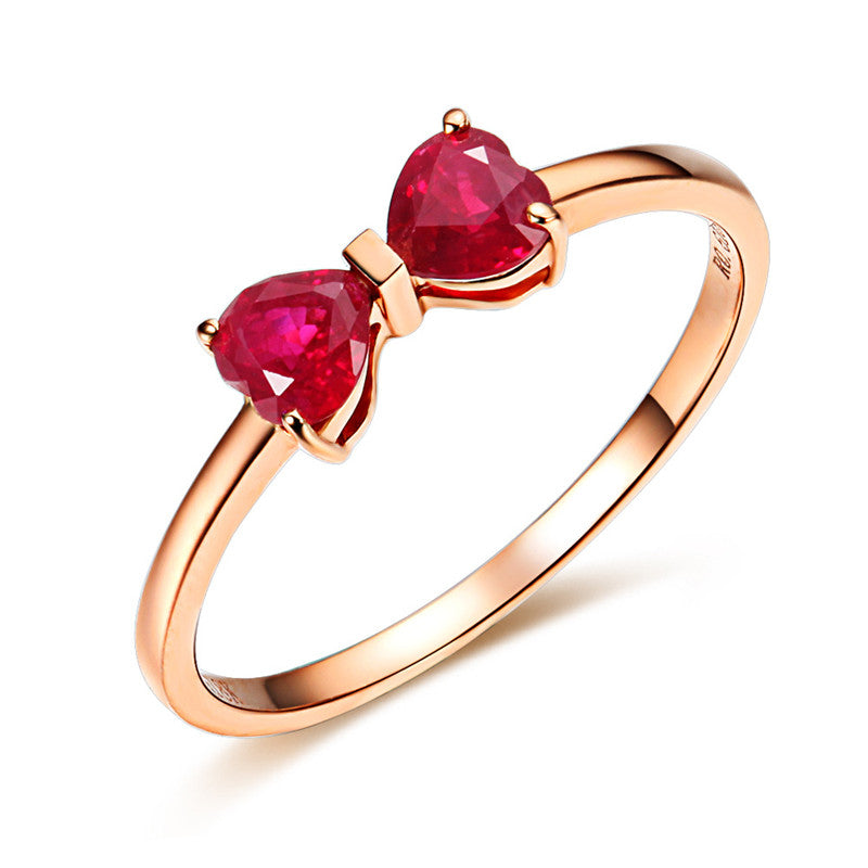 18K+Rose+Gold+Plated+Red+Ruby+Ring+Real+925+Sterling+Silver+Gemstone+Rings+for+Women+Butterfly+Flower+Love+Fine+Jewelry+Wedding