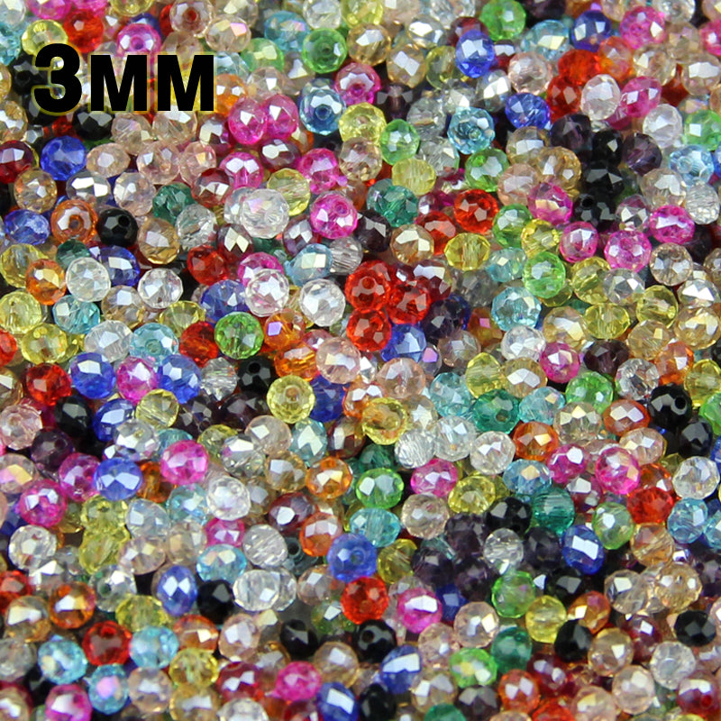 Round+Shape+Upscale+Austrian+crystals+beads+High+quality+3mm+200pcs+loose+rondelles+glass+ball+bracelet+Jewelry+Making+DIY