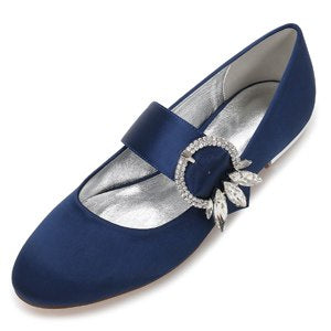 Creativesugar+elegant+crystal+buckle+mary+jane+flats+satin+dress+shoes+low+block+heel+diamond+lady+shoe+navy+blue+red+ivory