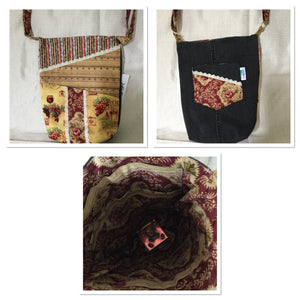 LADIES UPCYCLED ACCESSORY HANDBAG