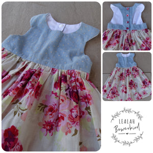 SIZE 0 - DENIM SPRINGTIME DRESS