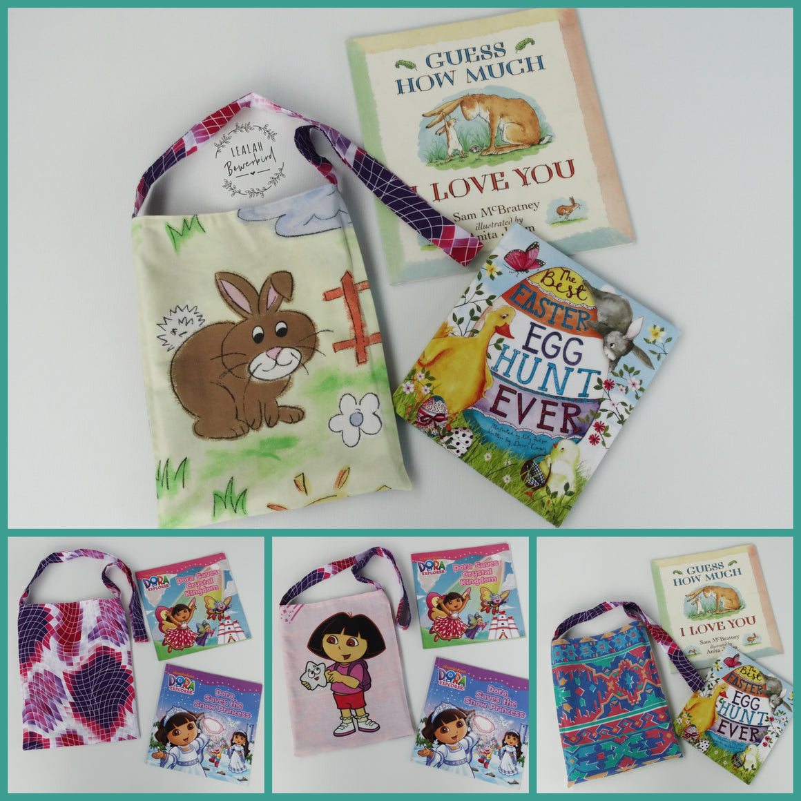 4 WAY STRING BUNNY AND DORA  BAG