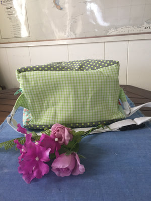 LARGER UPCYCLED FABRIC BUM BAG