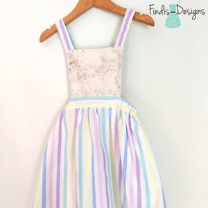SIZE 3 - EASTER TIE UP PINAFORE DRESS