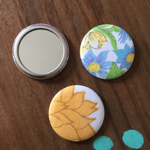 Upcycled Fabric Pocket/Wallet Mirrors