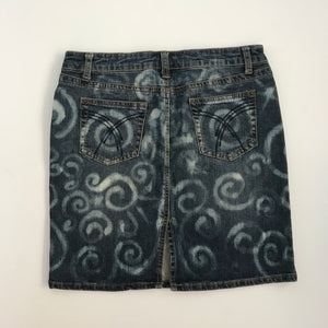 SIZE 10 - LADIES DENIM UPCYCLED SKIRT