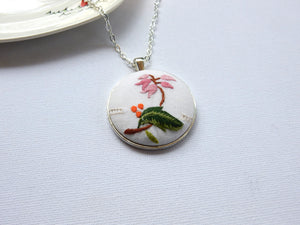EMBROIDERY LINEN PENDANT