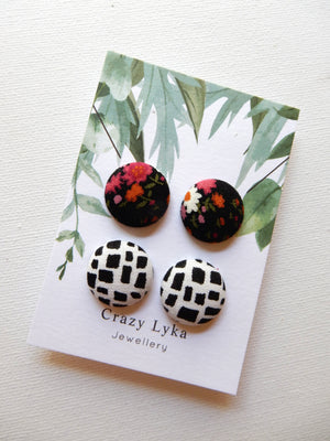 Fabric Earring Duet