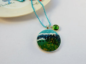ABSTRACT FABRIC PENDANT