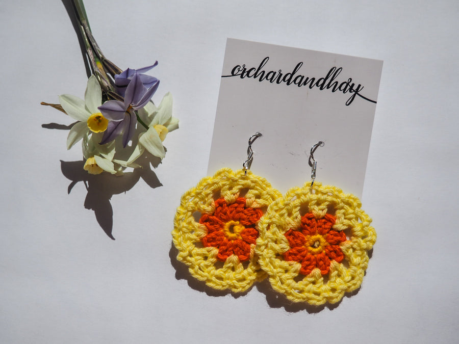 HAND CROCHET DOILY EARRINGS