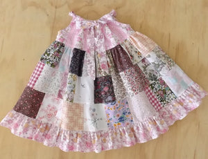 SIZE 3 PATCHWORK PILLOWCASE DRESS