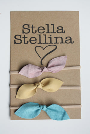 CUTE LEATHER BOW HEADBANDS