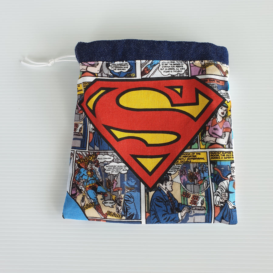 4 WAY SUPERMAN DRAW STRING POUCH