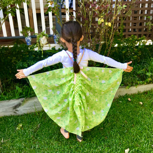 SIZE 4-5  GRANNY SMITH APPLE FLUTTERBY WINGS