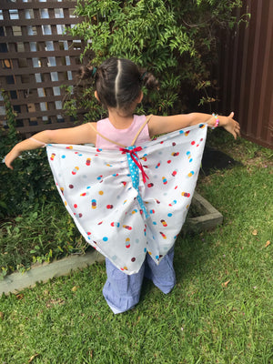 SIZE 4-5 RETRO SPOT FLUTTERBY WINGS
