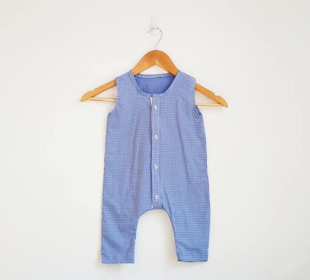 SIZE 6-9 MONTHS UNISEX REPURPOSED ROMPER/PLAYSUIT