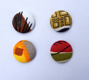 RETRO FABRIC FRIDGE MAGNETS