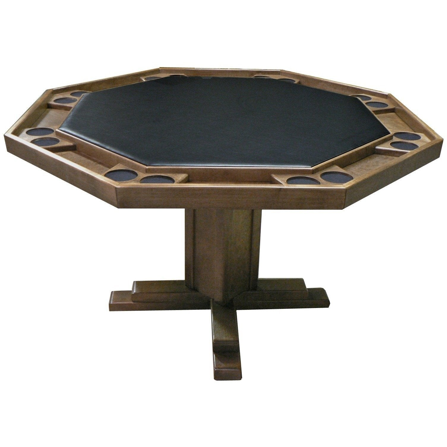 Shop Kestell 57 Oak Octagon Poker Table With Pedestal Base 8 Person Just Poker Tables