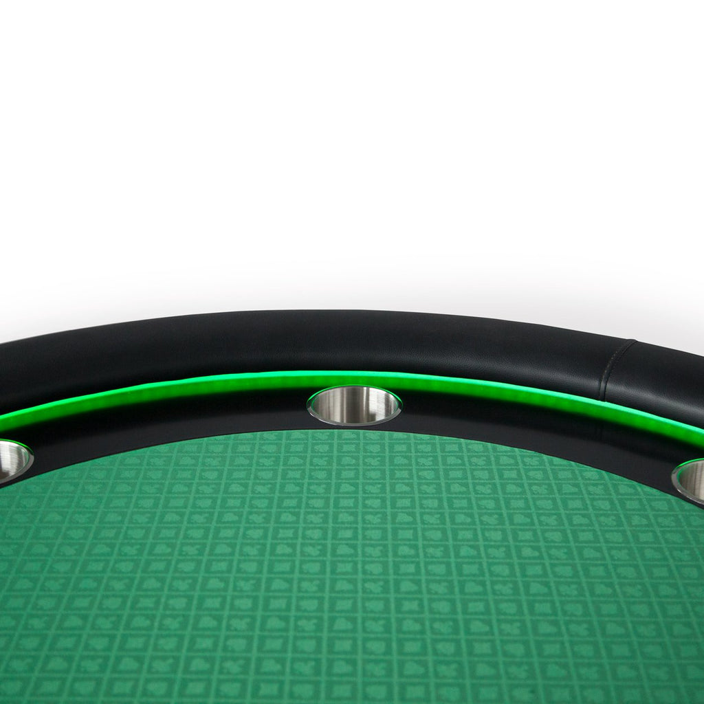 Magnificent Bbo Poker Tables Ginza Led Black Round Poker Table 8 Person Beutiful Home Inspiration Xortanetmahrainfo
