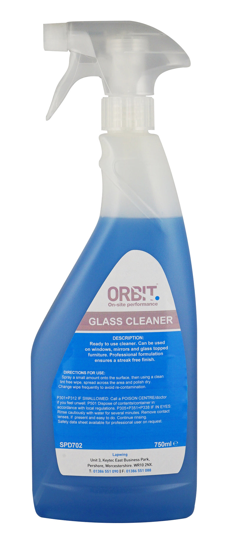 Orbit Window & Glass Cleaner - Orbit - Janitorial Supplies - Lapwing UK