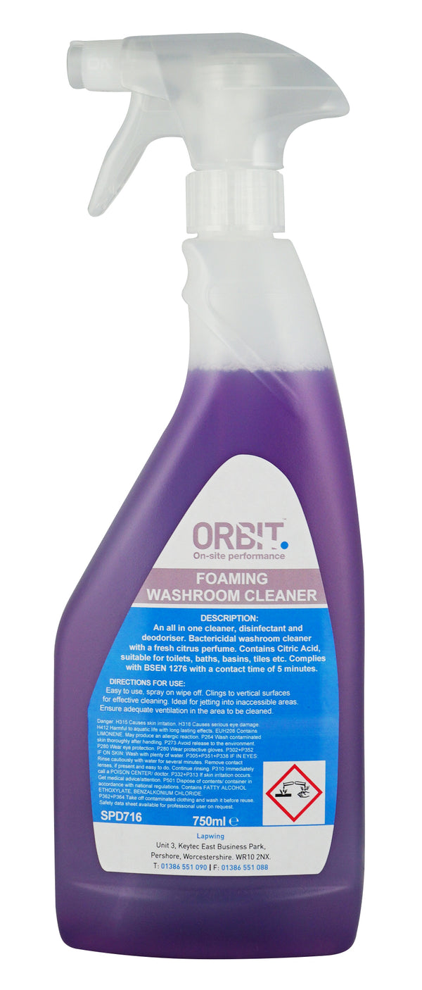 Orbit Foaming Washroom Cleaner - Orbit - Janitorial Supplies - Lapwing UK