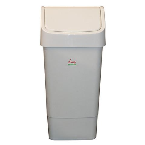 White Swing Bin - Orbit - Janitorial Supplies - Lapwing UK