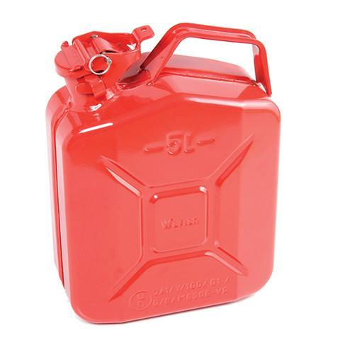 Steel Jerry Can 5 Litre - Red - Orbit - Liquid Storage - Lapwing UK