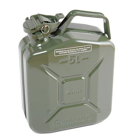 Steel Jerry Can 5 Litre - Green - Orbit - Liquid Storage - Lapwing UK