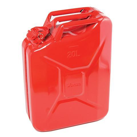 Steel Jerry Can 20 Litre - Red - Orbit - Liquid Storage - Lapwing UK