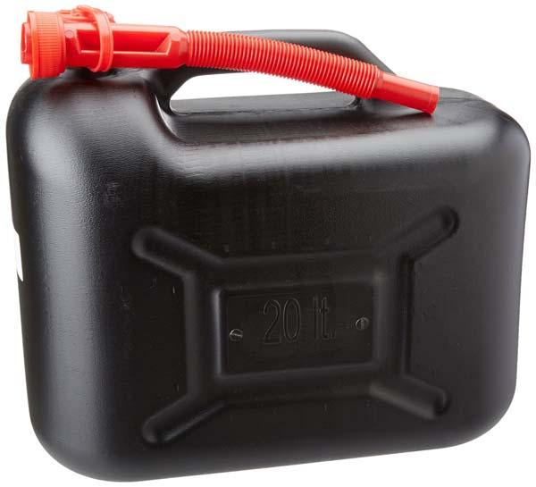 20 Litre Black Plastic Fuel Can - Orbit - Liquid Storage - Lapwing UK