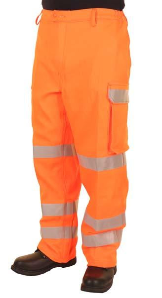 ARC Hi-Viz Orange Cargo Trouser GORT