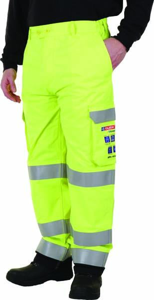 ARC Hi-Viz Yellow Cargo Trouser - Azured - Arc Compliant Clothing - Lapwing UK