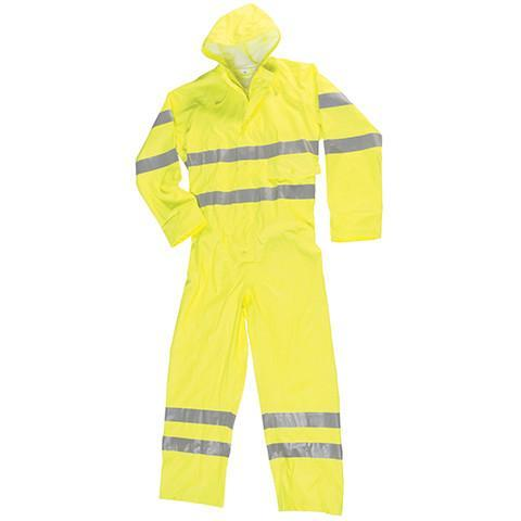 Breathable High Viz Waterproof Coverall
