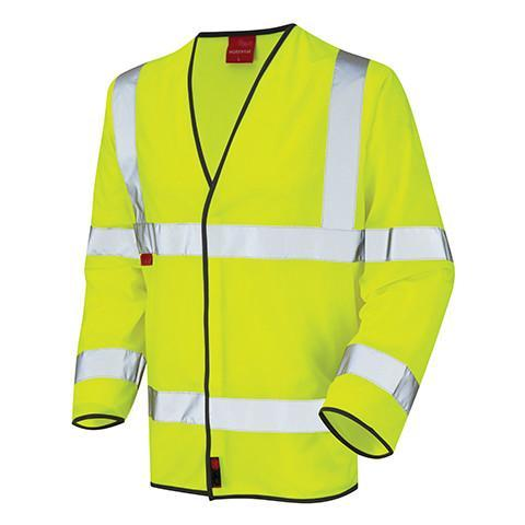Flame Retardant Yellow Class 3 Long Sleeved Waistcoat - Azured - Flame Retardant - Lapwing UK