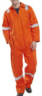 Orange Flame Retardant boiler suit with reflective bands - Azured - Flame Retardant - Lapwing UK