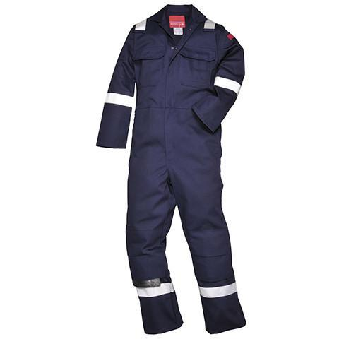 Flame Retardant Boiler Suit with Reflective Bands - Azured - Flame Retardant - Lapwing UK