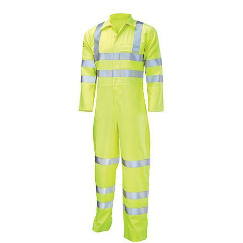 Flame Retardant Hi Viz Boiler Suit Yellow