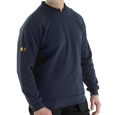 Flame Retardant Navy Sweatshirt - Azured - Flame Retardant - Lapwing UK