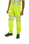Hi Viz Jog Bottoms - Yellow - Azured - General Hi Vis - Lapwing UK