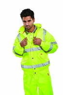 Class 3 Yellow Contractors Hi Viz Bomber Jacket - Azured - Waterproof Clothing - Lapwing UK