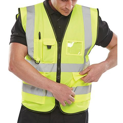 Class 2 Executive Hi Viz Waistcoat - Azured - General Hi Vis - Lapwing UK