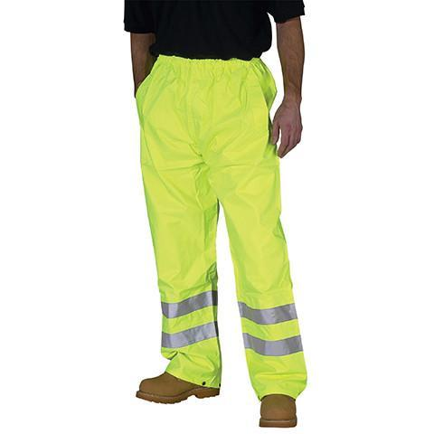 Hi Viz Yellow Overtrousers - Azured - Waterproof Clothing - Lapwing UK
