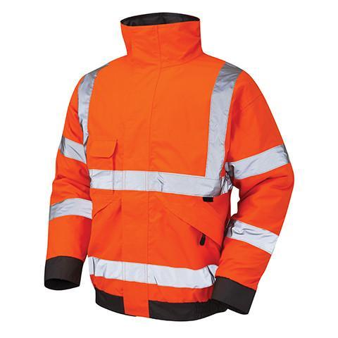 Class 3 Orange Professional Hi Viz Bomber Jacket - Azured - Rail Spec - Lapwing UK