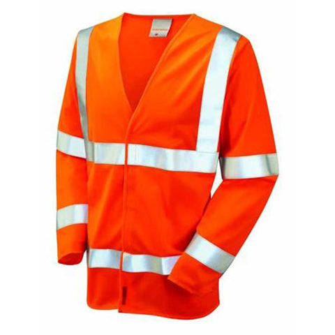 Flame Retardant Orange Class 3 Long Sleeved Waistcoat